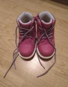 Różowe buciki zimowe kozaczki trapery z futerkiem Fila Deichman...
