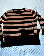 Cienki sweter w pasy S Zara