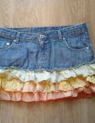 Spódniczka mini jeansowa Cross rozmiar 28 ombre DIY...