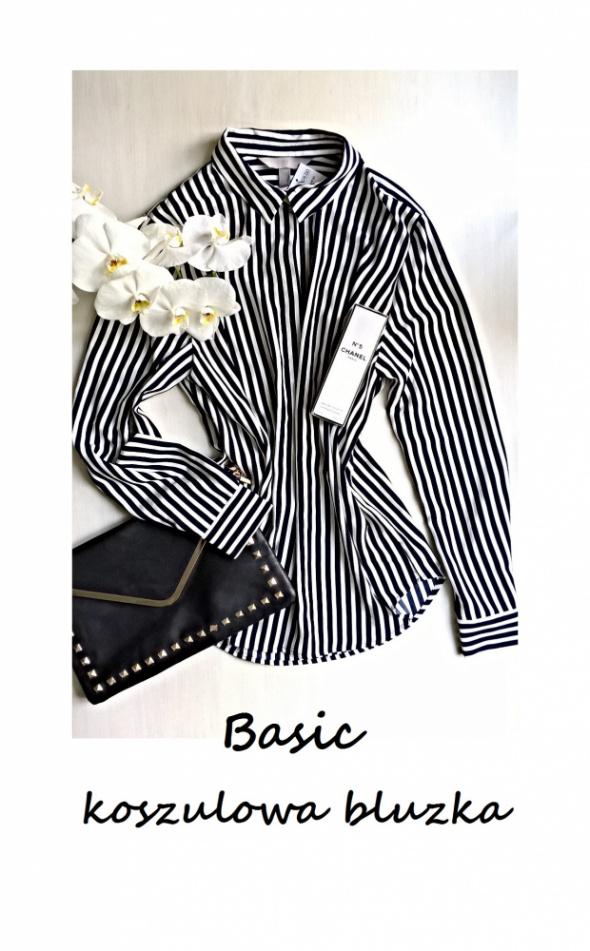 Bluzki Nowa elegancka koszulowa bluzka w paski 44 46 basic minimalizm must have