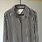 Nowa elegancka koszulowa bluzka w paski 44 46 basic minimalizm must have