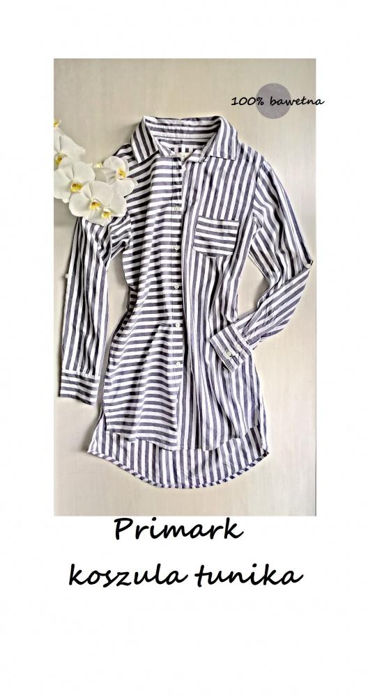 Koszule Koszula tunika bawełna S M paski Primark