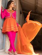 Nowy strój komplet indyjski XL 42 tunika bolerko spodnie skinny...