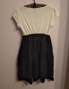 Biało czarna sukienka z kokardkami Atmosphere 38 M...