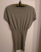 Szara sweterkowa sukienka tunika Fraternity S M...