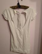 Biała koszulka tunika sukienka French Collection Butik...