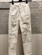 Jeansy białe...