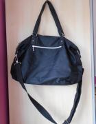 Sinsay czarna torba xxl shopper materiałowa