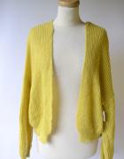Sweter Narzutka S 36 Żółty Asos Akryl Sweterek...