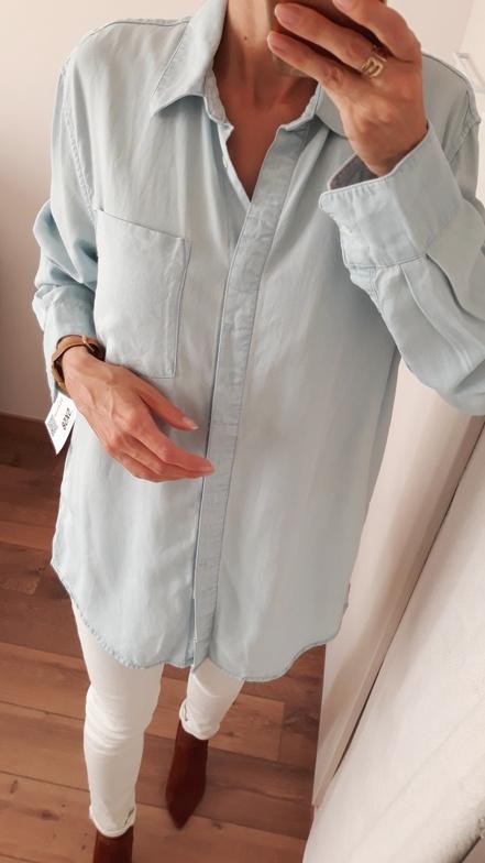 Koszule NOWA Weekday 100 lyocell koszula jeansowa denim oversize 36
