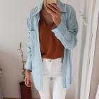 NOWA Weekday 100 lyocell koszula jeansowa denim oversize 36