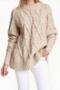 Sweter w warkoczowy splot H&M...
