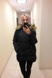 Kurtka zimowa firmy Pretty Girl rozmiar 38 granat...