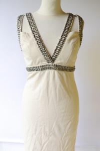 Sukienka Nowa Beżowa Dzety L 40 Glamour Lipsy London...
