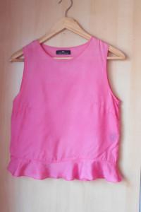 Day Birger et Mikkelsen różowy top bluzka falbanka...