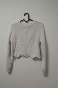 śmietankowy sweterek ecru minimalistyczny atmosphere 34 xs...