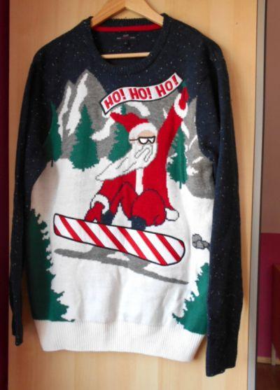 Swetry sweter męski z mikołajem świąteczny