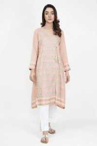 Nowa indyjska tunika angrakha S 36 handmade kameez kurta wzór w...