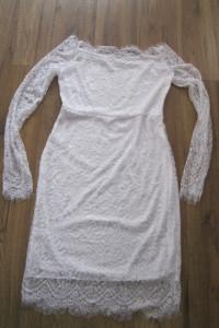 koronkowa sukienka dopasowana 38 M ołówkowa
