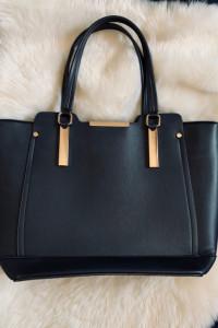 Torebka Shopper New Look czern zloto...