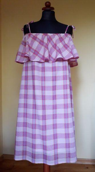 Suknie i sukienki Sukienka hiszpanka różowa L XL