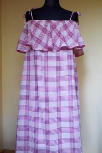 Sukienka hiszpanka różowa L XL
