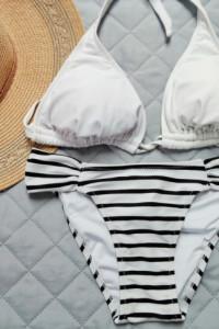 Strój kąpielowy biało czarny S nowy