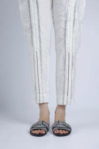 Nowe spodnie indyjskie XS 36 S 6 białe wzór salwar pajama cygar...
