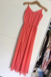 Maxi boho koralowa sukienka M...