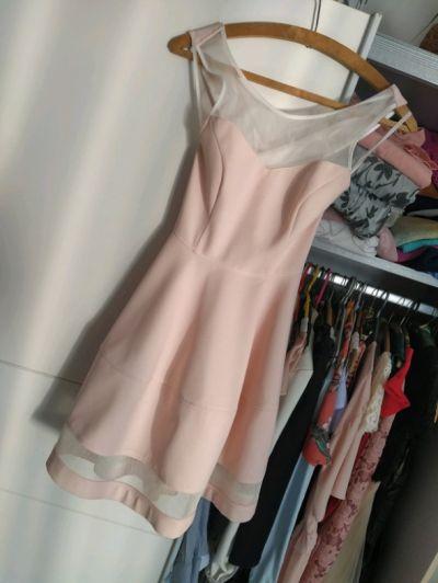 Suknie i sukienki Pudrowa śliczna sukienka rozkloszowana xs