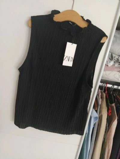 Bluzki Czarna bluzka Zara S nowa