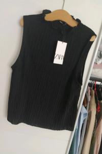Czarna bluzka Zara S nowa