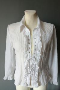 Biała bluzka koszulowa...