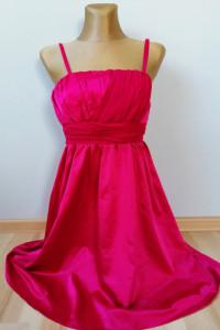 Sukienka atłasowa Fuksja Gina Tricot