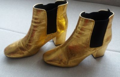 Botki Złote botki H&M 39