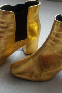 Złote botki H&M 39
