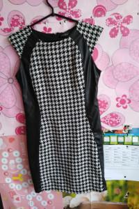 Śliczna sukienka firmy Amisu wstawki lateksowe 20 zł