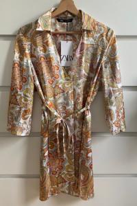 ZARA piękna sukienka we wzory ornamenty XS