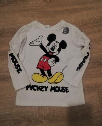 Bluzki Biała bluzka dziecięca z Myszką Mickey