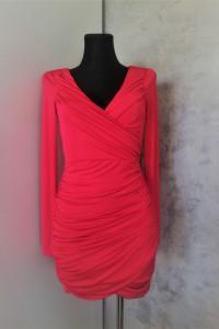 Sukienka w kolorze malinowym oneness...