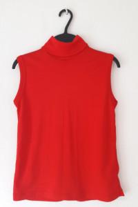 Damska czerwona bluzka z golfem