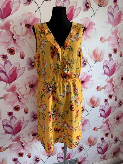Suknie i sukienki Dunnes stores sukienka modny wzór kwiaty floral jak nowa 44