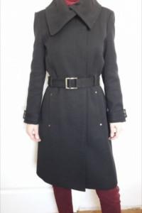 Płaszcz MANGO czarny elegancki