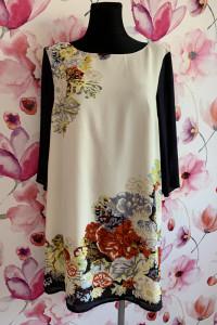 H&m sukienka luźny fason kwiaty floral 38 40...