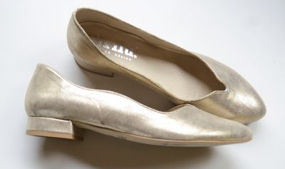 Czółenka Czółenka Ślubne Ślub NOWE 41 Złote Połyskujące 2 cm Brilu