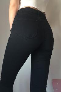 czarne jeansy topshop rurki jamie jeans 26 32 xs s...