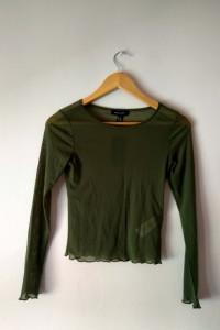 bluzka khaki zielona new look xs przezroczysta...