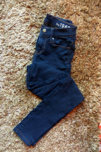 legging jeans xs s gap rurki granatowe obcisłe strecz...