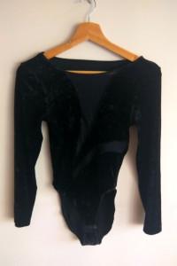 body s m 38 welurowe vintage czarne
