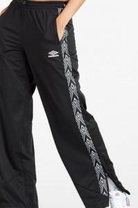 umbro oldschool s czarne spodnie dresowe dzwony flare szerokie vintage